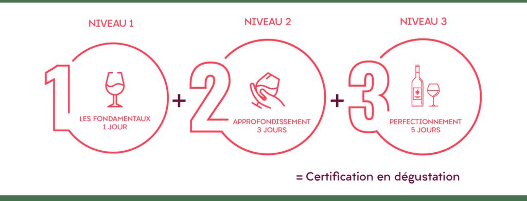 les différents niveaux de certification : fondamentaux, approfondissement et perfectionnement